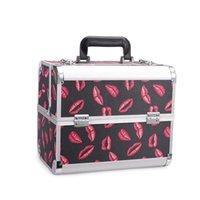 أكياس التجميل الحالات حقيبة يد المنظم ماكياج الفنان المحمولة حالة متعددة الطبقات أداة صندوق سبائك الألومنيوم