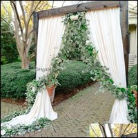 Decorative Flowers Wreaths Festive Party Supplies & Garden2M Faux Eucalyptus Fake Silk Leaves Vines Artificial Plant Greenery Garland For Ho
