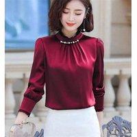 Blusas das mulheres camisas Primavera outono de manga longa shirits de alta qualidade temperamento profissional camisa profissional de blusas mm0937