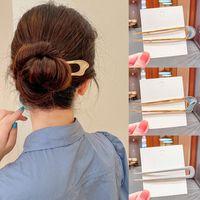 اكسسوارات للشعر الأزياء ش شكل معدني العصي للنساء بسيطة تصفيفة الشعر اليومية مقاطع فتاة أغطية الرأس والمجوهرات بالجملة