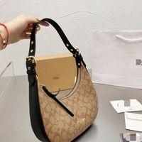 Bags celin 2021 new underarm bag hand printing fashion women's crescent single shoulder