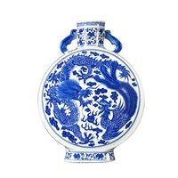 Jingdezhen Keramikvase Dragon und Phoenix Ornamente Klassische Wohnzimmerdekoration von Ming- und Qing-Dynastien