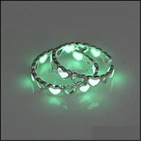 Band Jewelryluminous Love Heart Open Rings For Women Glow In The Dark Wedding Finger Ring Fashion Party Jewelry Gift 2949 Q2 Drop Delivery 2