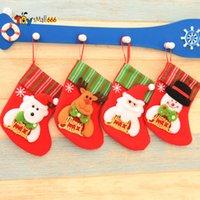 Kerst Hanging Sokken Leuke Candy Gift Bag Snowman Santa Claus Deer Bear Christmas Stocking For Christmas Tree Decor Hanger FY7179