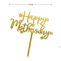 Mutlu Anneler Günü Kek Topper Akrilik Gül Altın En İyi Anne Kek Topper Anneler Günü Doğum Günü Partisi Kek Dekorasyon için HWD5421