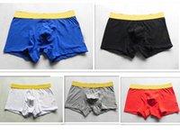 عالية الجودة رسائل الرجال داخلية القطن boxershorts الرجال comforable سراويل مجموعة مثلي الجنس مثير ملابس داخلية رجل الملاكم السراويل داخلية