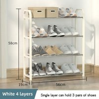 Clothing & Wardrobe Storage Shoe Rack Tower Organizer Cabinet Entryway Stackable Shelf Unit With 4-Tier Durable Shoemaker