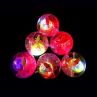 Educational toy 5.5cm flashing crystal ball luminous elastic colorful jumping children's toys wholesale spread 4961