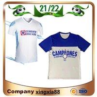 2021 2022 Club Cruz Azul Futbol Formaları 21 22 Şampiyonlar Mavi Beyaz Ev Uzakta Üçüncü Kırmızı Futbol Gömlek Liga Mx Camisetas de Futbol Kiti Golekeper Jersey 999