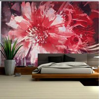 Wallpapers Red Wallpaper For Walls Abstract Floral Flower Wall Mural Girls Bedroom Art Home Decor Ideas Living Room Murals