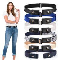 Unsichtbare faule Frauen Elastische Jeans Gürtel Einfache hohe Dichte Stretch Gummiband Bock Freekk1o