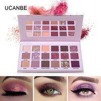 UCANBE Aromas 18 Colors New Nude Eyeshadow Makeup Palette Glitter Matte Shimmer Rosy Pink Eye Shadow Waterproof Pigment Cosmetic Palettes