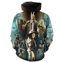 2020 Nouvelle promenade élégante morte 3d horreur TV Hoodie Hommes et femmes Costurio Halloween Costume Harajuku Sweat-shirt