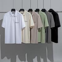 2020s de primavera e verão novo de alta grau de algodão de impressão de manga curta redondo painel de pescoço t-shirt Tamanho: M-L-XL-XXL-XXXL Cor: preto branco P5