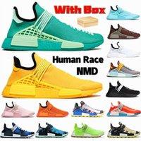 With box NMD Human Race running shoes green aqua chocolate core white black Hu Pharrell Solar Pack blue men women sneakers brazil yixuia