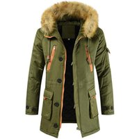 Men's Jackets Men Padded Bubble Fur Hooded Parka Parker Soft Hoody Lined Coat Casual Jacket Winter Warm Ski Top Long Sleeve Fashion Clothes