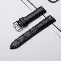 Sıcak Satış Deri İzle Grupları Omega 18mm 20mm İzle Sapanlar Ile Çelik İzle Toka