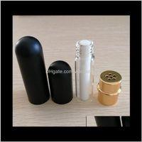 Nouveau inhalateur nasal d'aluminium Bouteilles rechargeables pour les huiles essentielles de l'aromathérapie avec des mèches de coton de haute qualité Expédition 110pcs Sing9 Coslr