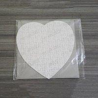승화 빈 심장 퍼즐 DIY 퍼즐 심장 사랑 모양 퍼즐 뜨거운 전송 인쇄 빈 소모품 아이 장난감 선물 무료 배송