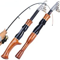 Boat Fishing Rods Rod 1.6M Cork Handle Spinning Casting Role Carbon Fiber Protable Travel Pesca