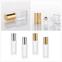 6ml 9ml Essential Oil Glass Bottle Frosted Perfume Bottles With Roll On Bottles Cosmetic Containers For Travel RRD7539