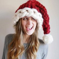 3 styles Adult Kids Wool Knit Hats Christmas Hat Fashion Home Outdoor Party Autumn Winter Warm Hat Xmas gift party favor indoor tree deco FY4972r