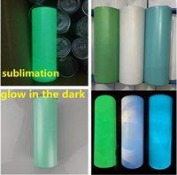 Sublimación brilla en el vaso recto oscuro 20oz Dazzling tazas con pintura luminosa Staliness Staliness Steel Tumblers