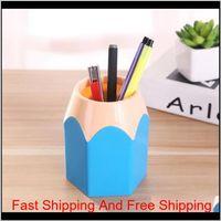 Cute Pop Creative Pen Holder Vase Color Pencil Box Makeup Brush Stationery Desk Accessories Gift Storage Supplies Dyum1 Qvidi