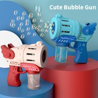 Bubble Machine Gun Automatic Indoor Outdoor Bubbles Maker Party Favor Shape Exciting Machine Used Gift Reward Children Kids back to school Supplies