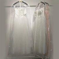 الملابس خزانة الملابس تخزين بالجملة شفافة pvc الغبار غطاء ل فستان الزفاف والدليل على شنقا أكياس الملابس للماء جودة عالية