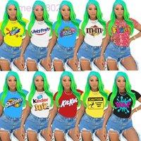 10 가지 색상 뜨거운 판매 여성 의류 2021 여성용 티셔츠 여름 패션 캐주얼 통기성 편안한 반팔 인쇄 된 티셔츠