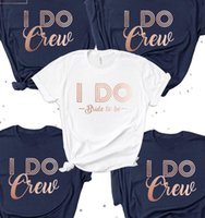 Women's T-Shirt Bachelorette Hen Party I Do Crew Wedding Bridesmaid Bride Squad Tops Women Fashion Short Sleeve Tshirt Plus Size Tee