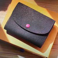 Luxurys Designers Sacs Portefeuilles 2021 Crossbody Rosalie Porte-monnaie Mini Pochette Femme courte Femme Compact Porte-cartes Porte-cartes Exotiques Cuir Emilie Portefeuilles 41939