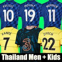 Tailândia Chelsea 21 22 WERNER HAVERTZ CHILWELL ZIYECH Camisas de futebol 2020 2021 2022 PULISIC Football Shirt KANTE MOUNT 4th Men Conjunto infantil tops