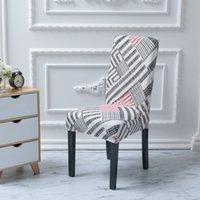 Spandex-Stuhlabdeckungen Home Slipcover Stretch-Sitzkoffer Elastische Slipcovers Stühle Dekor Floral 40 Design GWE5276
