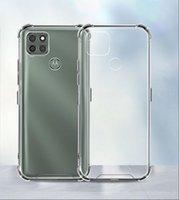 Transparente acrílico a prueba de choques duro PC TPU Casos de teléfono transparentes para Motorola G Stylus E5 E6 E6S E7 G6 G7 G8 G9 Play Plus Power Lite P40 G10 G30 E2020 MOTE Caja de teléfono móvil