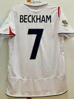 레트로 클래식 잉글랜드 2006 축구 유니폼 멀리 rooney owen 램프 Beckham Ferdinand Gerrard 축구 셔츠