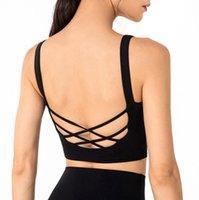 Sports Underwear Women's Shockproof Running Fitness Bra Beautiful Back Yoga Tank Top Vest Sexy Gym Clothes