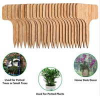 Garden Decorations Bamboo Plant Labels for Outdoor Tags Waterproof , 2.36x4 inches T-Type Wooden Markers Flower, Vegetable, Nursery