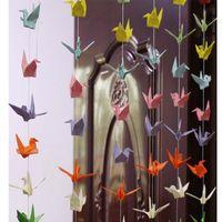 6 Takım El Yapımı Garland Origami Vinç Düğün Dekorasyon DIY Kağıt Vinç Parti Banner Sevgililer Günü Doğum Günü Malzemeleri