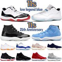 Nouveau 11 Low White Bred 11s High SE Métallique Or Jmpman Chaussures De Basket-ball Velvet Heiress Blue Pinnacle Gris Bred Hommes Femmes Baskets Baskets