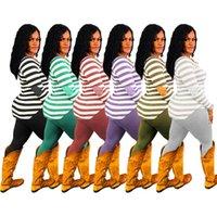 Sportswear Hot D102 Set Tracksuit Camicia Pantaloni Abiti Abiti a maniche lunghe Sportswear Camicia Pantaloni Sweatsuit PullOver Tights Tights Womens Due pezzi