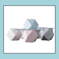Holders Décor & Garden2021 4 Colors Mtilateral Geometric Ceramics Candlestick Home Crafts Decorations Candle Holder Molds Drop Delivery 2021