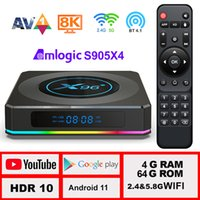 X96 X4 Android TV Box Android 11 2021 New 8G 64GB LEMFO Smart TV Box with WIFI 5G Amlogic S905x4 Google Voice Set Top Box 10