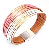 fashion bracelet designer bracelet luxury jewelry women bracelets Cowhide & gold plated Accessories never fade Magnetic clasp Charm Bracelet