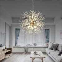 Lámpara de araña de cristal nórdico Lámparas de araña de diente de león Lámpara colgante Sala de estar Restaurante Restaurante Colgante Luz de lujo