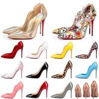 2021 High Heel Kleid Schuhe Styles Red Bottoms Damen Stilettos Echtes Leder Designer Luxurys 8 10 12 Cm Point Toe Pumps Loafer 35-42
