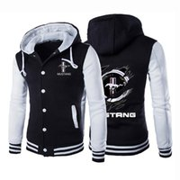 Men's Hoodies & Sweatshirts 2021 Autumn Mens Creative Design Mustang Designer Hoodie Hip Hop Jackets Unisex Baseball Uniform Coat Sport Cott