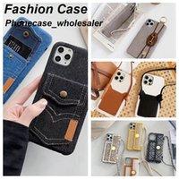 Сумка кошелька дизайнерские телефонные чехлы для iPhone 12 11 Pro Max Case 12P 11P XR XSMAX 7P 8P 7 8 с коробкой упаковки
