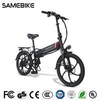 [Stock de la UE] SameBike 20LVXD30-II Bicicleta eléctrica plegable 32 km / h SMART BICICLEY 48V 10.4AH Batería de batería de 20 pulgadas Ebike No se actualizó con impuestos